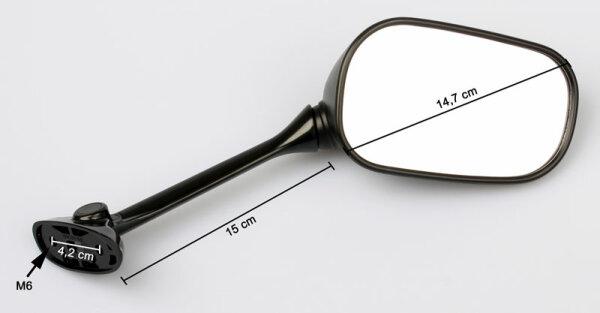 2x Specchio retrovisori breve compatibile per SUZ GSX 250 400 550 1100 GS 500 650