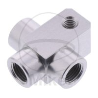 3-Wege-Verteiler geschraubt TYP 813-1 M10 x 1.00 silber