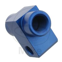 2-Wege-Verteiler geschraubt gerade Typ 811 M10 x 1.00 blau