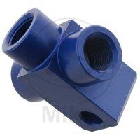3-Wege-Verteiler geschraubt Typ 813 M10 x 1.00 blau
