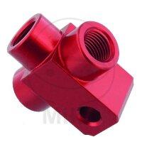 3-Wege-Verteiler geschraubt TYP 813 M10 x 1.00 rot
