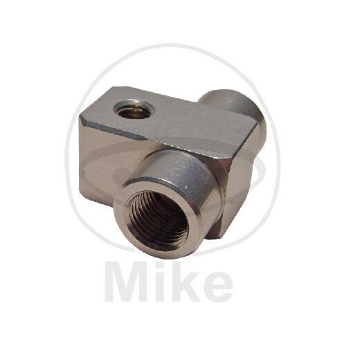 2-way distributor screwed straight type 811-1 M10 x 1.00 silver