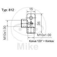2-Wege-Verteiler geschraubt gewinkelt Typ 812 M10 x 1.00 silber
