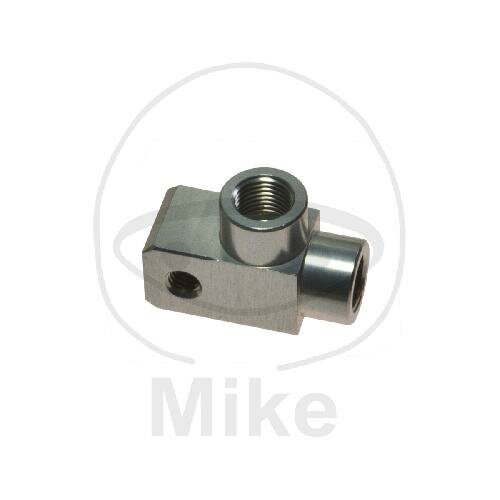 2-way distributor screwed angled type 812-1 M10 x 1.00 silver