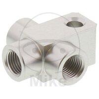 3-Wege-Verteiler geschraubt TYP 813 M10 x 1.00 silber