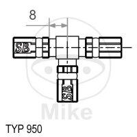 3-Wege-Verteiler Vario Typ 950 verpresst silber